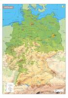 Digitale Duitsland Schoolkaart Natuurkundig