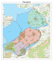 Postcodekaart Provincie Flevoland
