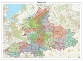 Digitale Postcodekaart Provincie Gelderland