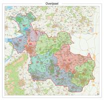 Digitale Postcodekaart Provincie Overijssel