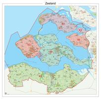 Postcodekaart Provincie Zeeland