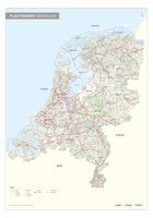 Plaatsnamenkaart  Nederland met wegen