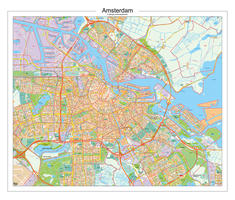 Digitale Postcodekaart Amsterdam