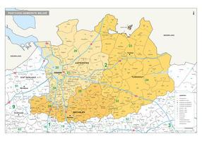 postcode/ gemeente kaart Antwerpen