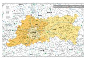 postcode/gemeente kaart Vlaams-Brabant