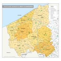 postcode/gemeente kaart West-Vlaanderen