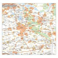 Utrecht Provinciekaart Staatkundig