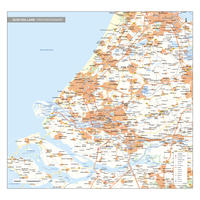 Zuid-Holland Digitale Provinciekaart Staatkundig