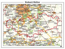 Digitale Natuurkundige kaart Brabant-Wallon