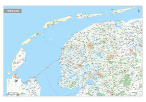 Provinciekaart Friesland