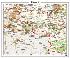 Digitale Natuurkundige kaart Hainaut