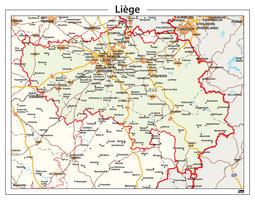 Provinciekaart Liège