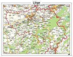 Digitale Natuurkundige kaart Liège