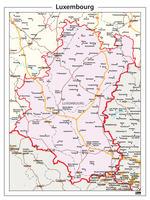 Provinciekaart Luxembourg