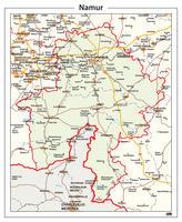 Provinciekaart Namur