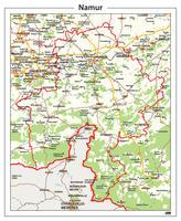 Digitale Natuurkundige kaart Namur