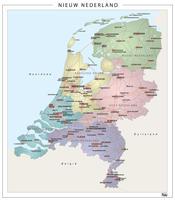 Digitale Digitale Nieuwe Provinciekaart van Nederland