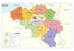 Beprikbare België Kaart Staatkundig