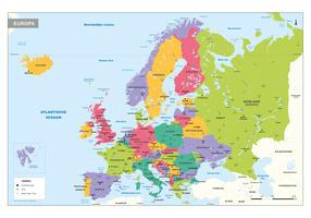 Europakaart Schoolkaart