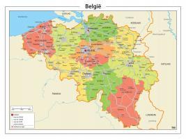 Digitale België Kaart Staatkundig