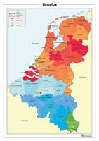 Digitale Eenvoudige Beneluxkaart