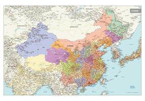 Staatkundige kaart van China