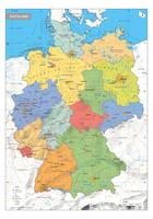 Duitsland Schoolkaart Staatkundig