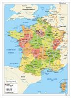 Kaart Frankrijk Staatkundig