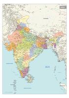 staatkundige kaart India