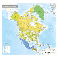 Noord-Amerika staatkundige kaart