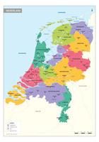 Duidelijke schoolkaart van Nederland