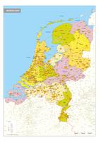 Gedetailleerde kaart van Nederland
