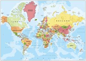Kleine A3 wereldkaart