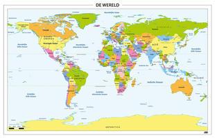 Digitale Wereldkaart Staatkundig 314