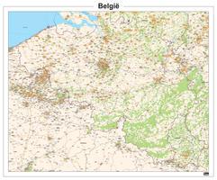 België kaart Topografisch