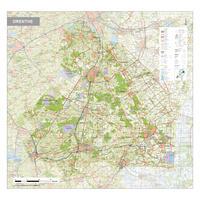 Topografische kaart Drenthe 1:100.000