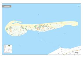 Ameland kaart