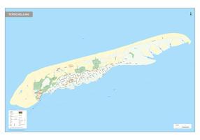 Digitale Terschelling kaart