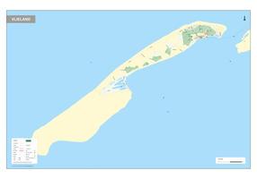 Digitale Vlieland kaart