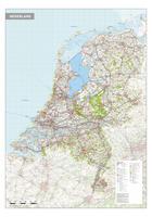 Nederland kaart met wegennet
