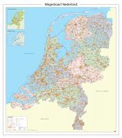 Wegenkaart Nederland met provincies en afritnamen