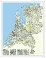 2-, 3- en 4-cijferige Postcodekaart Nederland