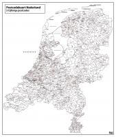 Digitale 3-cijferige Postcodekaart Nederland