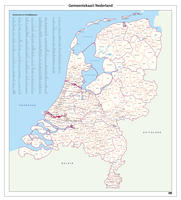 Eenvoudige gemeente kaart van Nederland