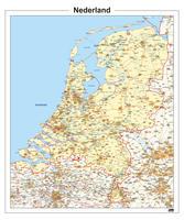 Kaart van Nederland met belangrijke wegen