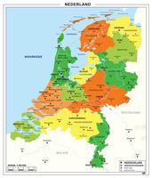 Eenvoudige kaart van Nederland