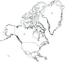 Gratis digitale kaart Noord-Amerika