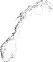 Gratis digitale kaart Noorwegen