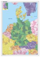 Postcode kaart centraal Europa