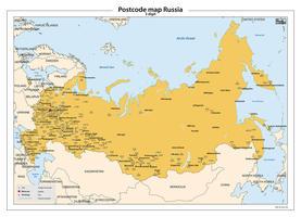 Rusland 3-cijferige postcodekaart 258